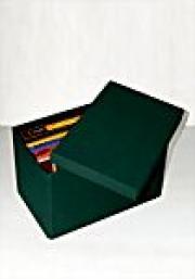 ! Картонная коробка обтянутая зеленой тканью - Подарочная упаковка для DVD/CD !